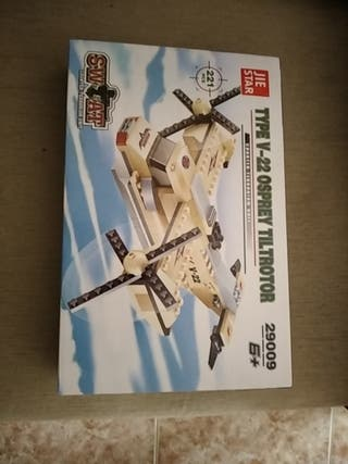 avión piezas como la de Lego