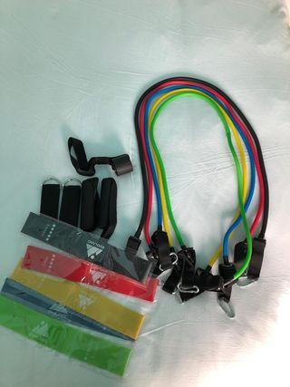 Gomas y cintas para hacer ejercicio