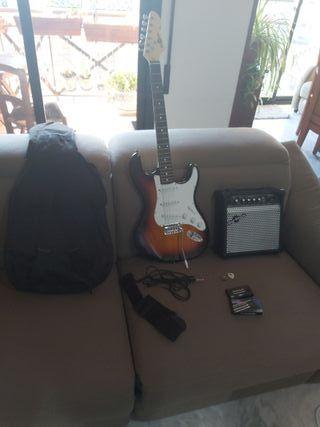 Pack Guitarra Eléctrica Amplificador y Afinador