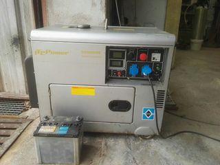Generador electrico monofasico diesel insonorizado
