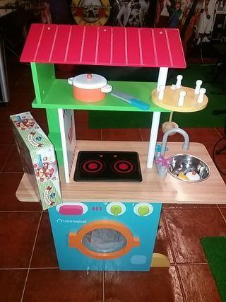 cocina juguete madera imaginarium