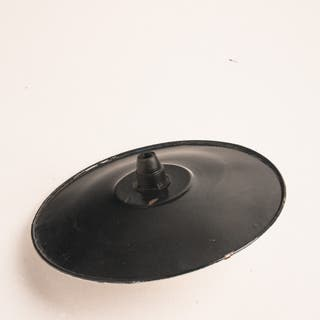 Plato lámpara. Metal lacado. Vintage. 40's
