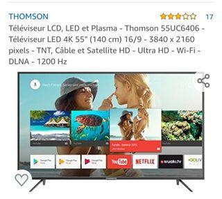 """Televisión SmartTV de 55"""" nueva sin estrenar"""