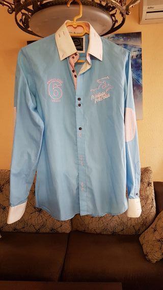 Camisa hombre azul