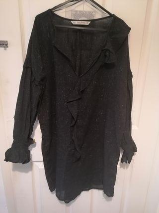 Zara women black dress new no tag