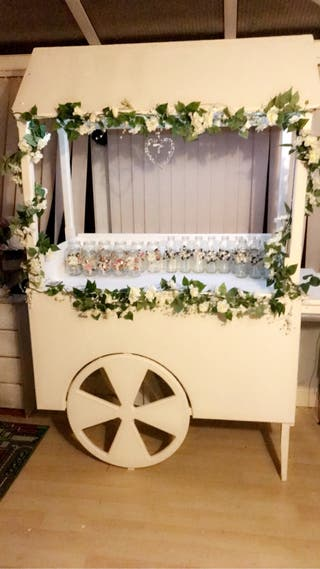 Candy cart and jars