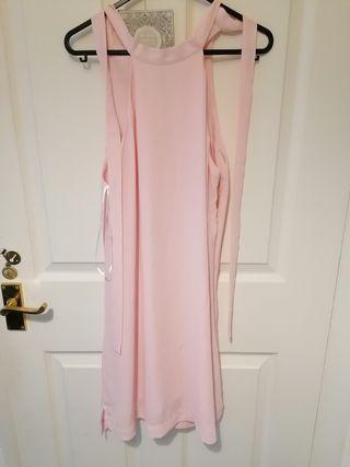 mango casual pink dress