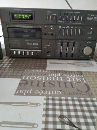 mini cadena radio cassette