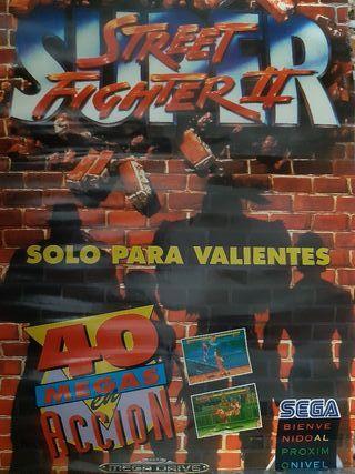 Poster de Super Street Fighter 2 para MegaDrive
