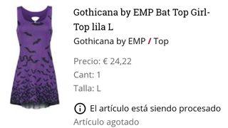 camiseta gothicana lila