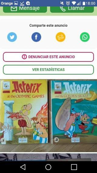 CÓMICS DE ASTÉRIX EN INGLÉS Y ESPAÑOL .