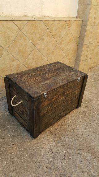 baul grande madera rústico