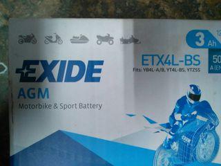 BATERIA DE MOTO EXIDE ETX4L-BS