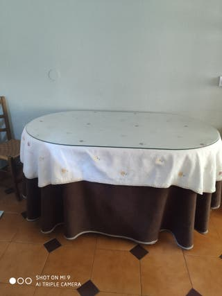 mesa camilla ovalada