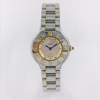 Reloj Cartier Must en acero y oro 18kt