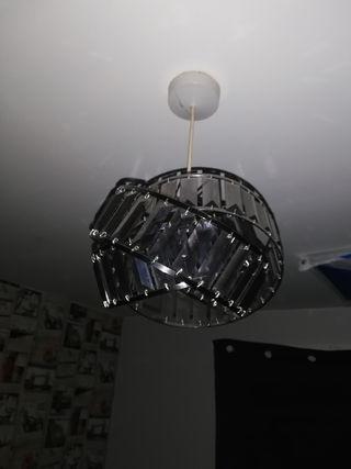 X4 GLASS LIGHT SHADES X2 BLCK X2 CLEAR