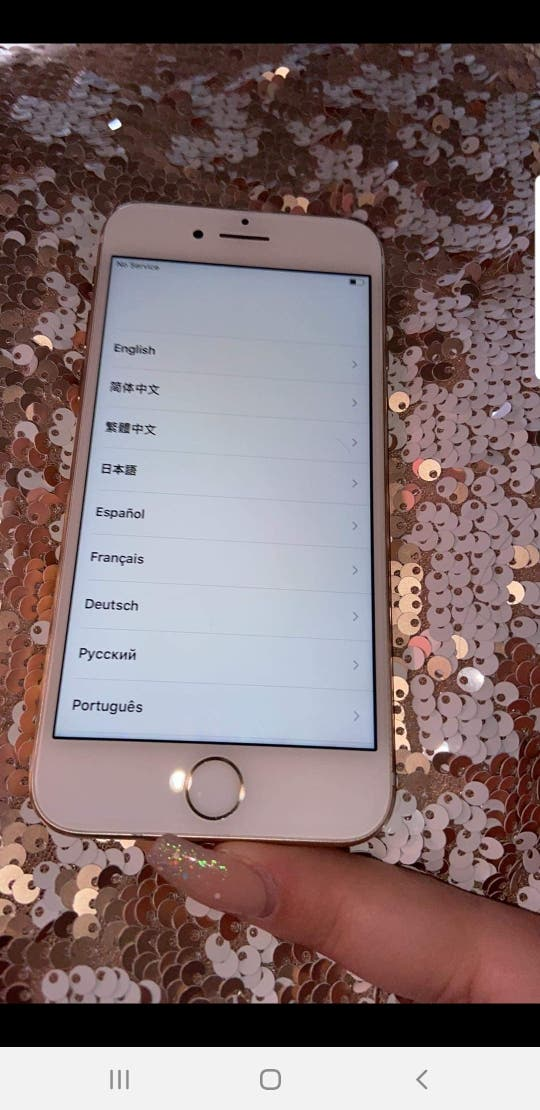 gold iphone 7. 128 gb . works perfect .