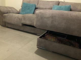 Sofá-cama chaise longue 3 plazas