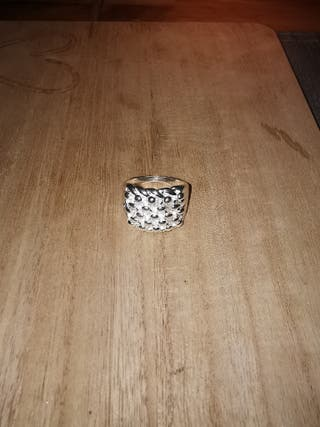MENS KEEPER RING 42G 925 SOLID SILVER PLATINUM DIP
