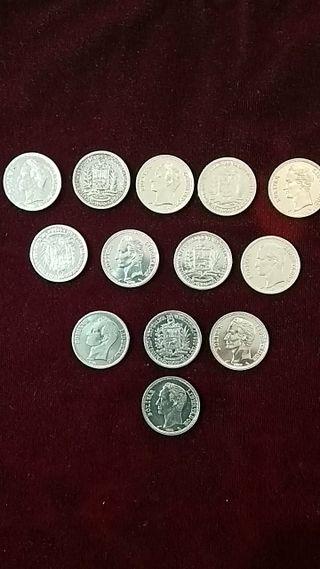 arras plata . monedas República Venezuela 1960