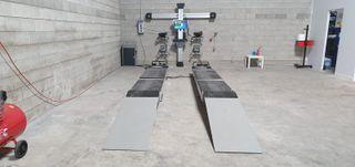 Elevador tijeras alineacion pantografo paralelos