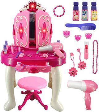 Yavso Tocador de Maquillaje para Niñas, Princesa T