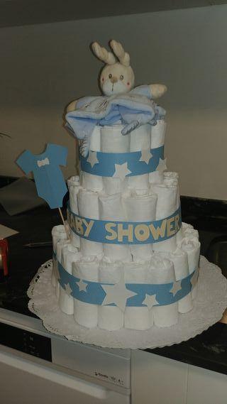 Tarta Pañales Babyshower