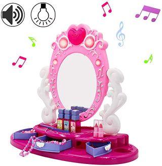 deAO Centro de Belleza Tocador con Espejo y Joyero