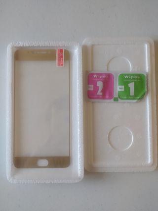 Cristal templado dorado para Meizu M3 Note