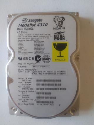 Disco Duro IDE Seagate 4.3 Gigas