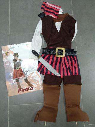 Disfraz pirata niña talla 4-6 años