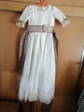 vestido de comunion talla hecho por modista
