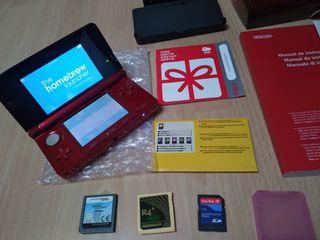 Videoconsola Nintendo 3DS + JUEGOS y caja.