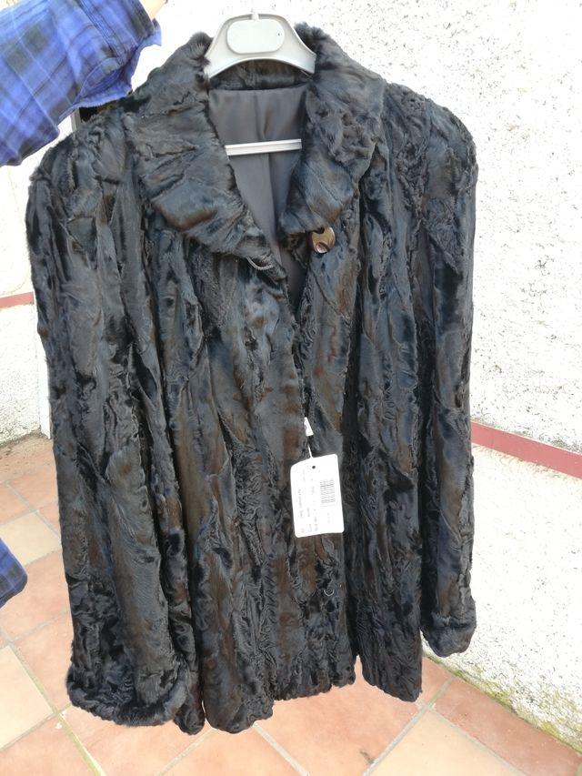 Abrigo de astracán auténtico Abrigo de piel