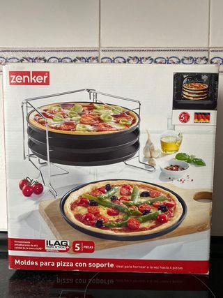 Moldes para pizza con soporte