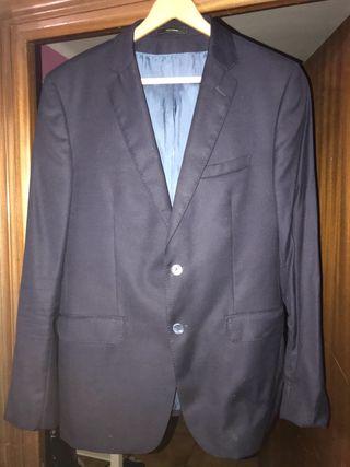 Americana Massimo Dutti Azul Marino 50 Hombre