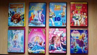 Varias películas infantiles en DVD