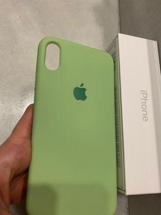 Funda I phone Xs Max verde pastel original