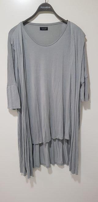 Camiseta con cardigan incorporado