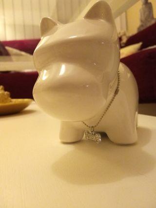 Hucha de cerámica perrito