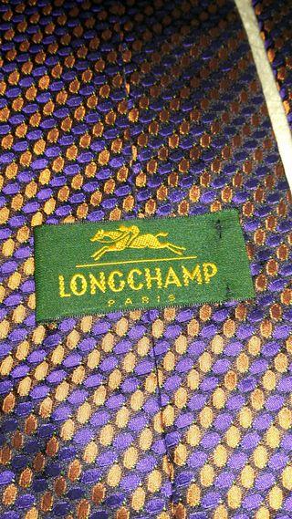 Longchamp men's 100% silk Tie