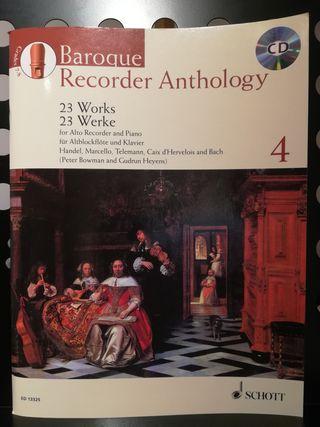 Partituras flauta de pico del barroco