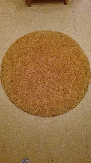 Alfombra circular naranja