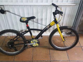 bicicleta con rueda de 20