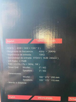 Altavoces HIDITEC H400
