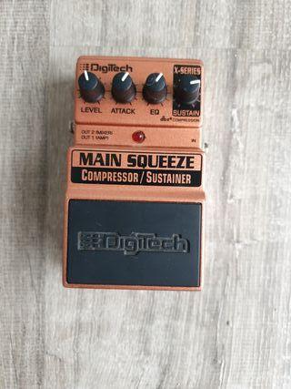 compresor/sustainer pedal de guitarra