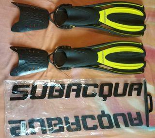 Aletas buceo / snorkel Subacqua Sport PRO talla S