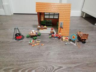 Campamento playmobil.