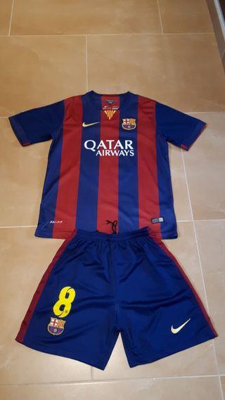 Equipación Barça niño Mario
