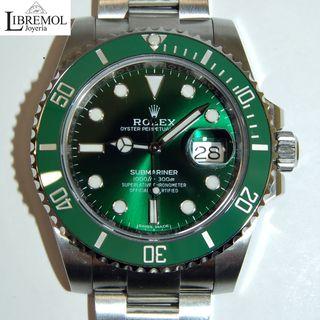 (6889) Rolex Submariner Hulk 116610LV Full 2017
